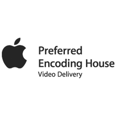 Partnerlogos vom optimal media: Apple Preferred Encoding House video Delivery for iTunes